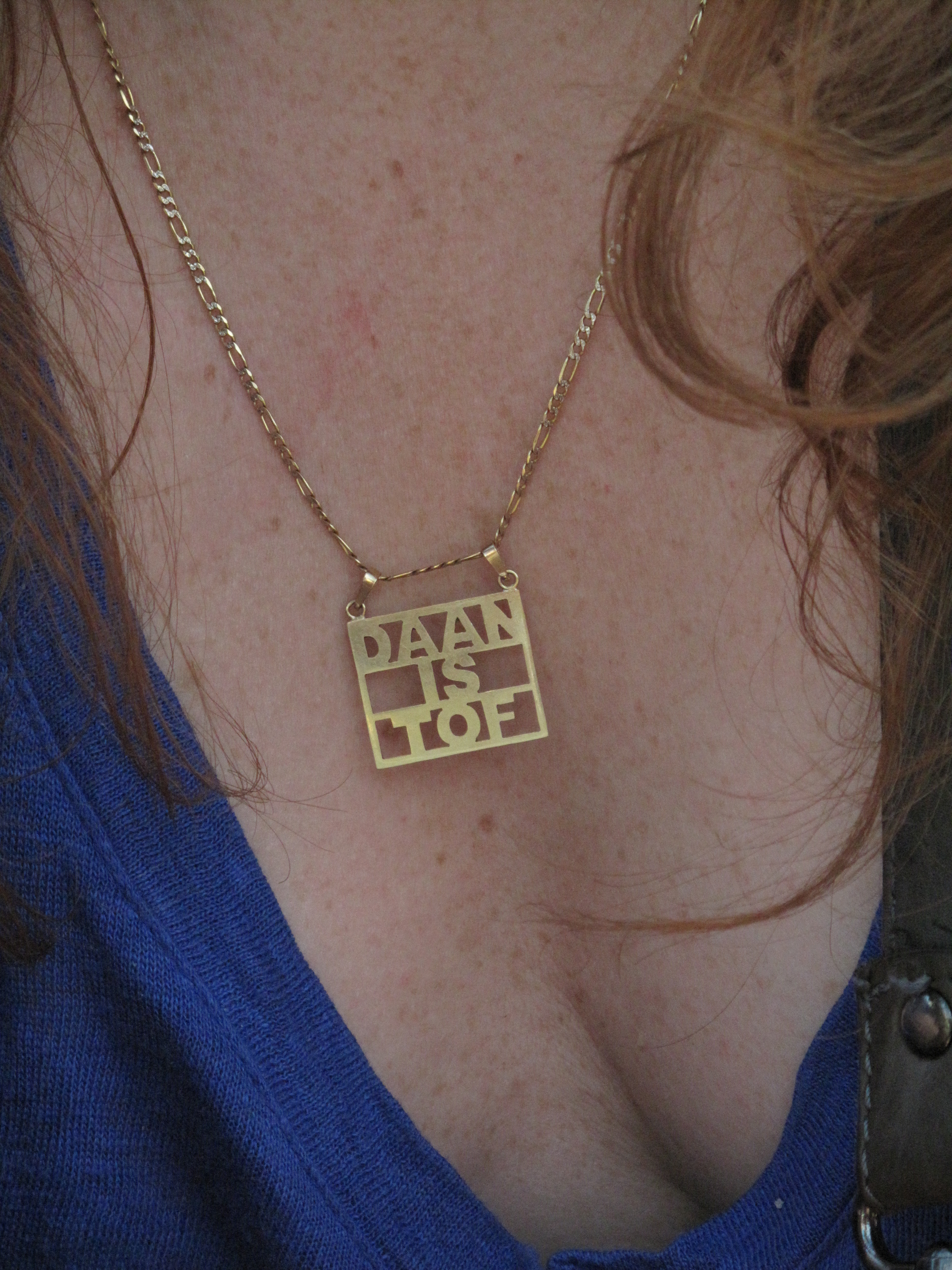 DAAN IS TOF – Gold Pendant